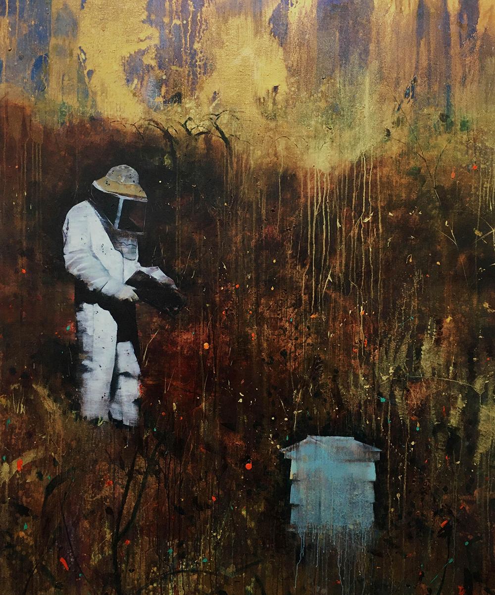 The Beekeeper 183 x 152 cm acrylic on linen