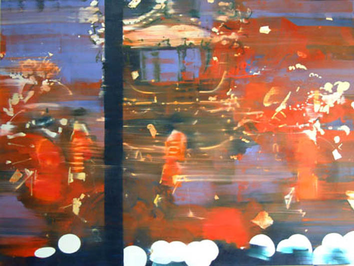 Accession 152 x 203 cm oil and gold leaf on canvas
