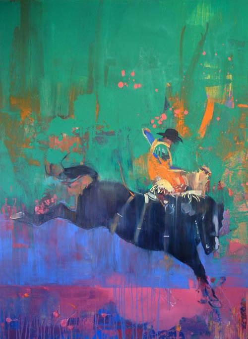 Buckaroo 2004 168x132cm Oil on canvas