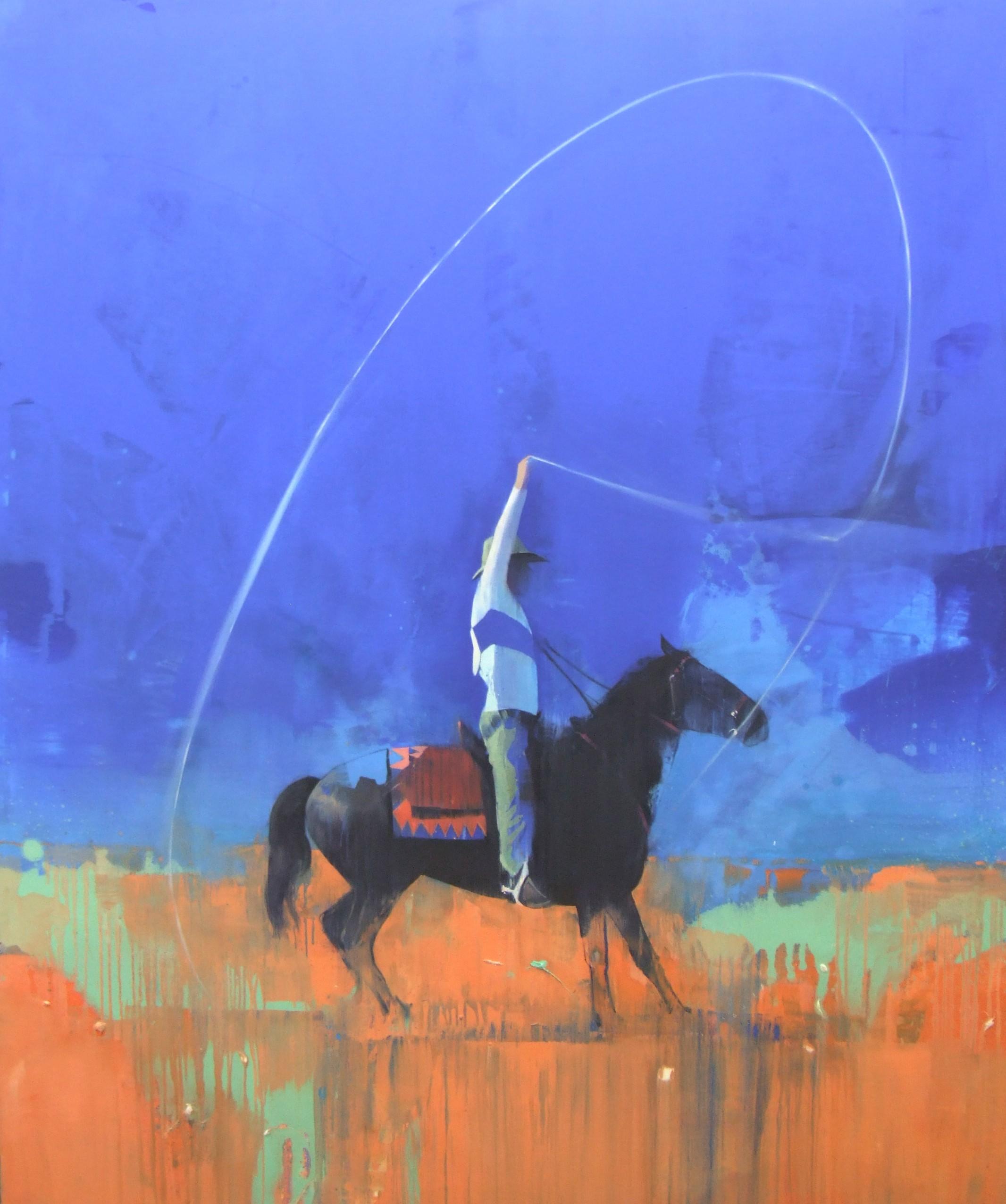 Fancy rope tricks 183 x 152 cm oil on canvas