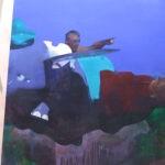Flying dumbo 152 x 183 cm oil on canvas
