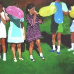 Six Balloons 163 x 244 cms oil on canvas