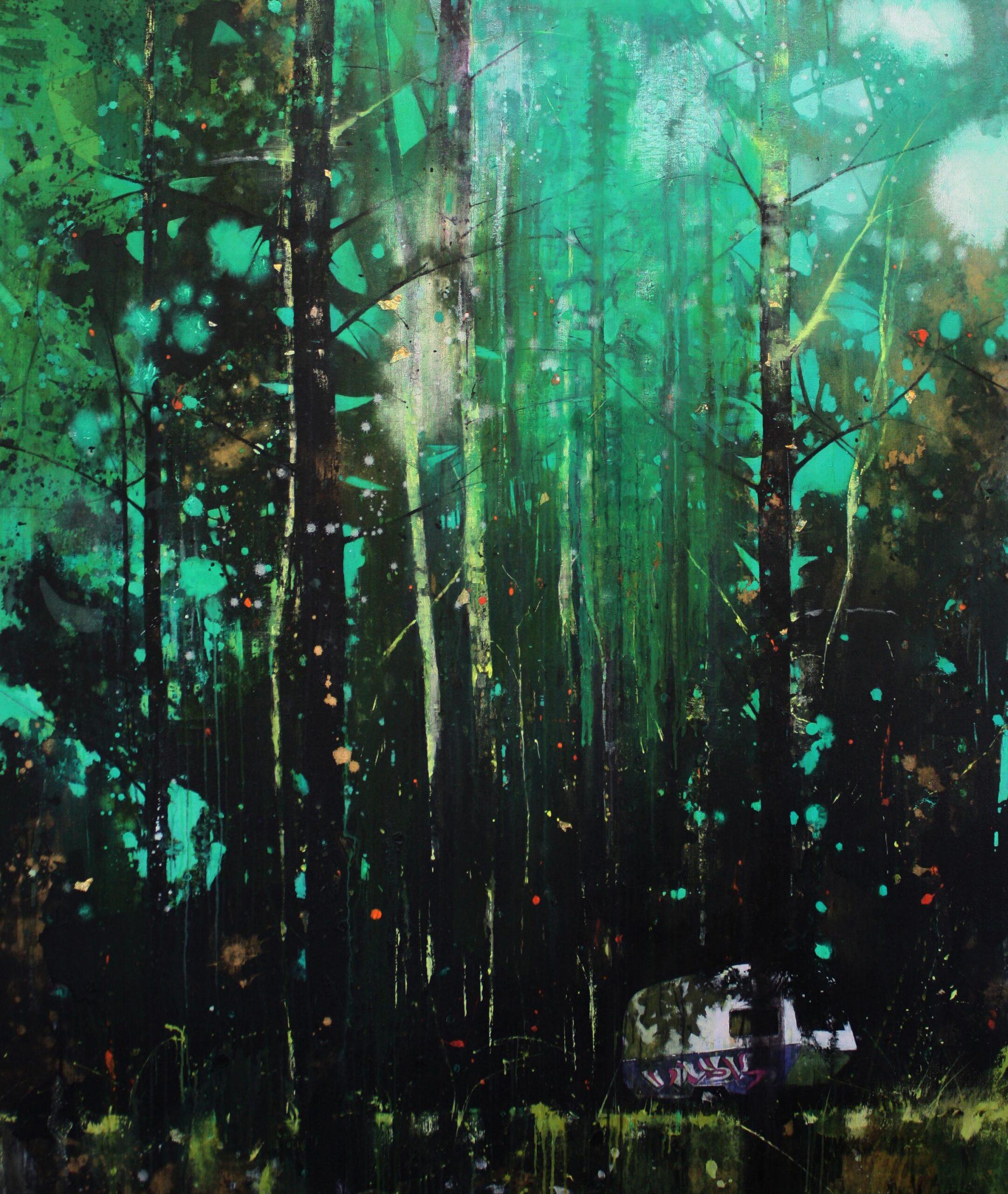 Static 183 x 152 cm acrylic & oil on canvas