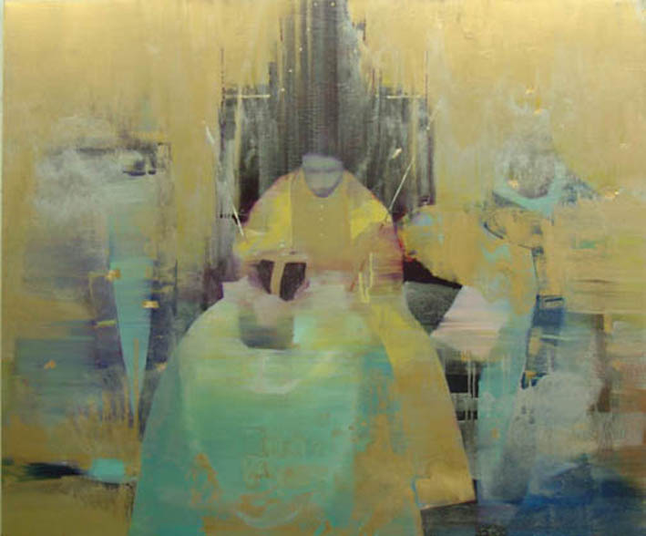 The Throne 152 x 183 cm oil and gold leaf on canvas