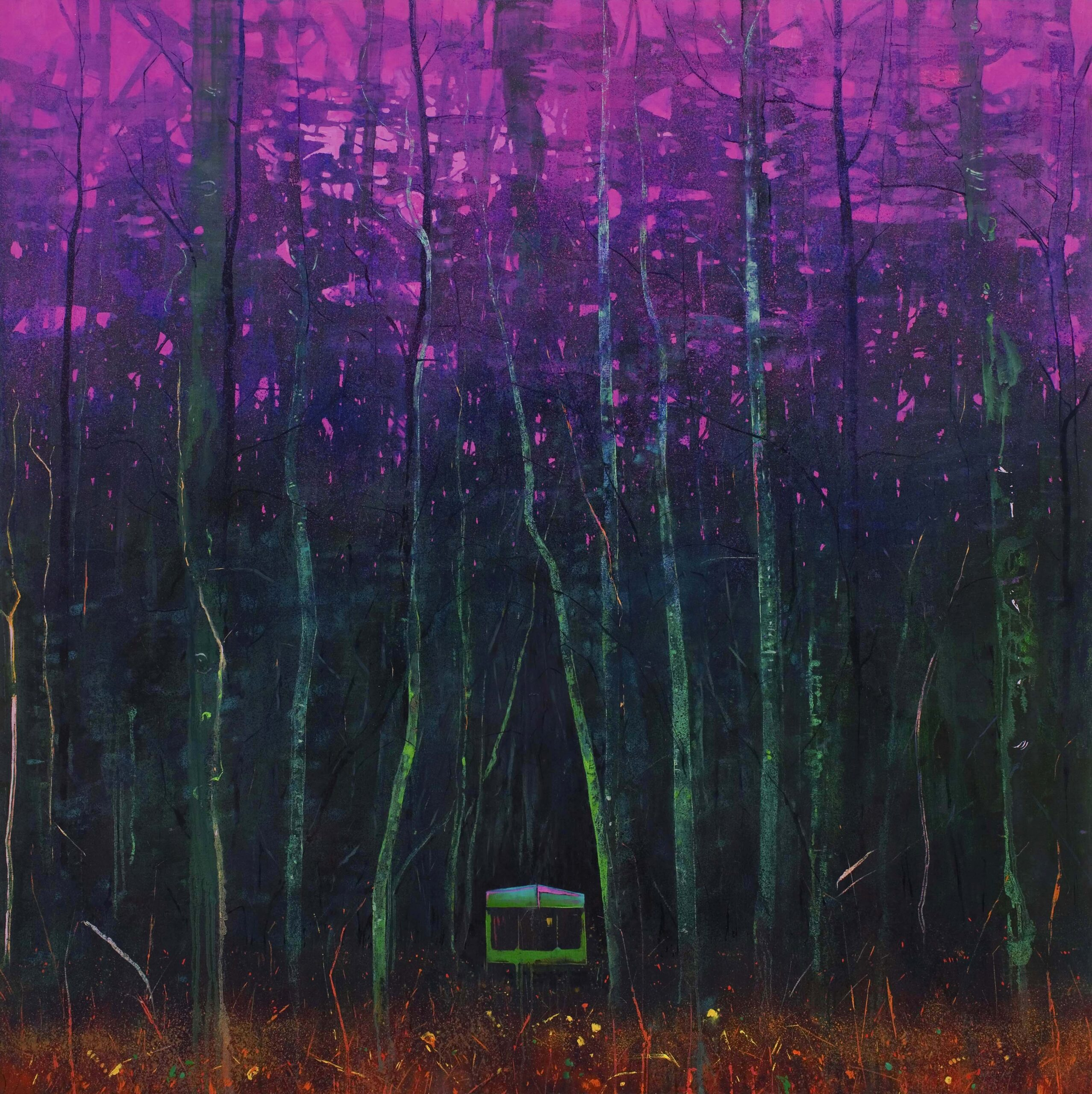 Safe 152 x 152 cm oil on canvas