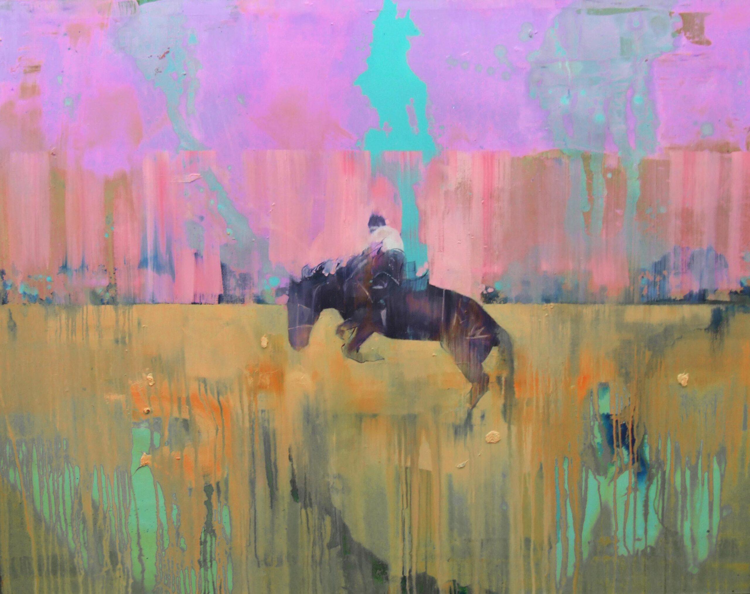 Cowboy 130 x 150 cm oil on canvas