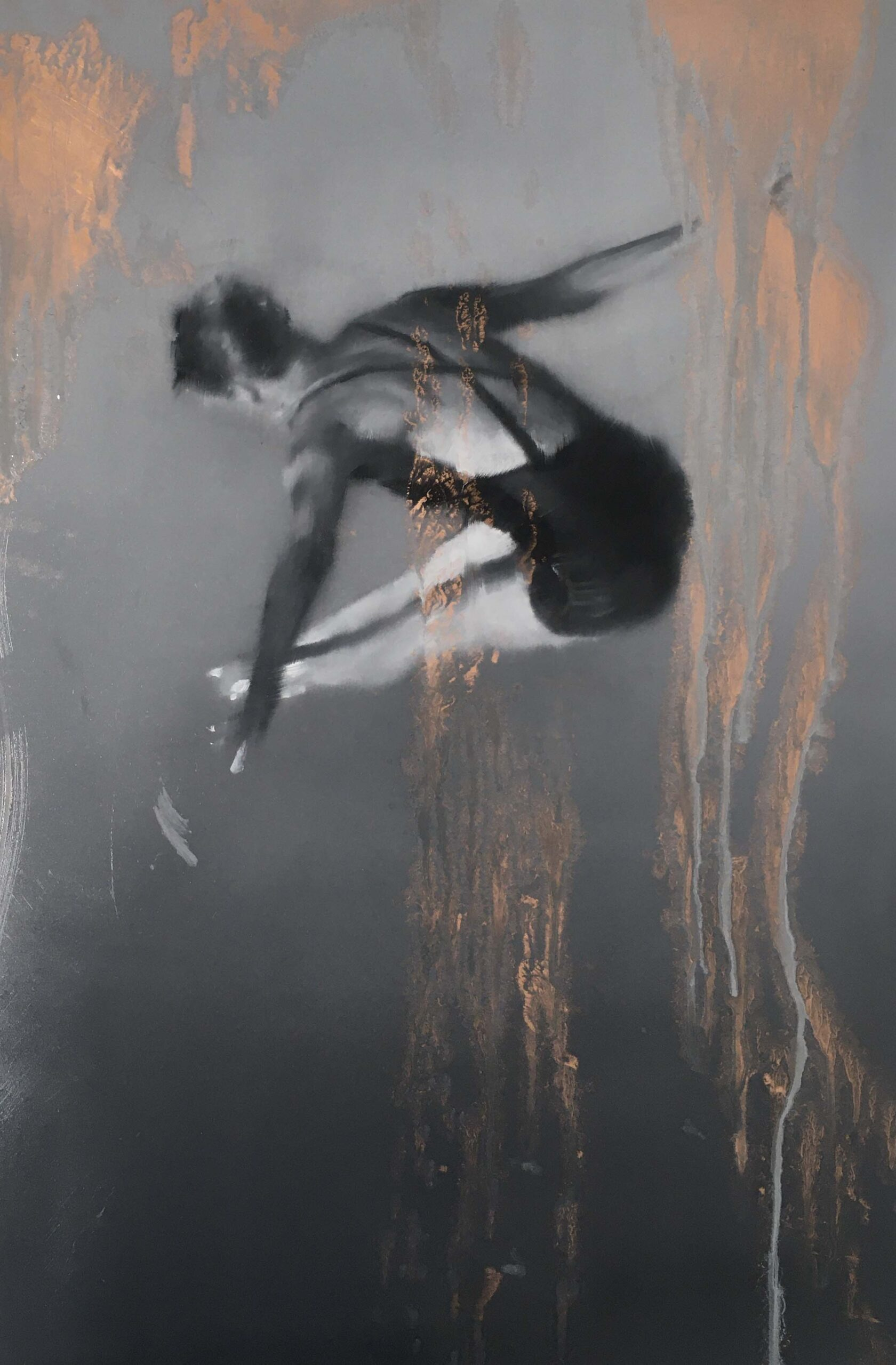 The Leap 60 x 40 cm oil on copper