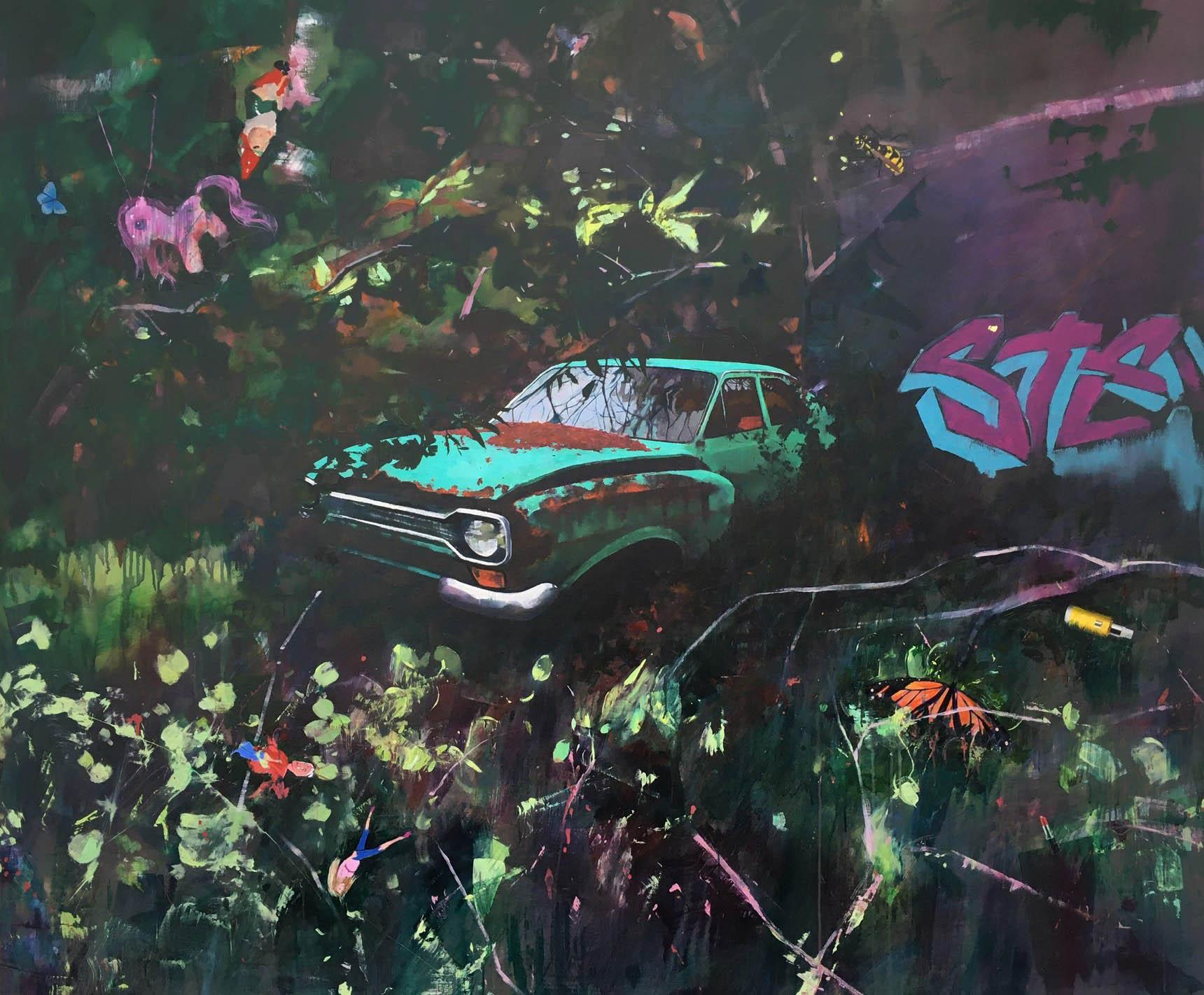 Trash and treasure 152 x 183 cm acrylic on canvas